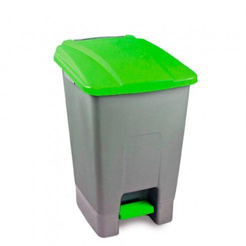 UP210Z Szelektív hulladékgyűjtő szemetes kuka pedálos 70L zöld