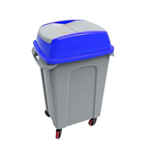 UP220K HIPPO Billenős Szelektív hulladékgyűjtő szemetes kuka kék 50L