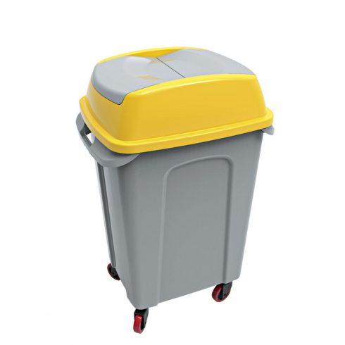 UP222S HIPPO Billenős Szelektív hulladékgyűjtő szemetes kuka sárga 70L